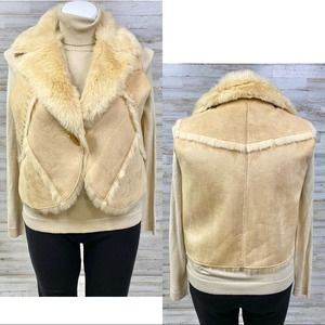 Tasha Polizzi Vegan Faux Suede Faux Fur Vest XL